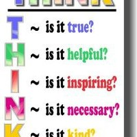 Think Before You Speak - Classroom Motivational Poster