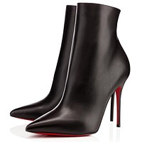 Christian Louboutin Women Fashion Casual Heels Shoes Boots-23