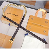 Louis Vuitton LV Twist the chain belt 20MM