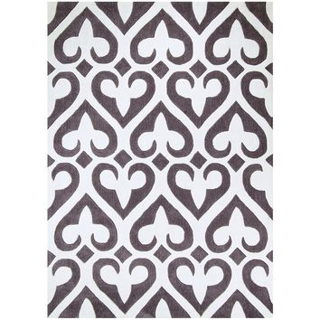 Agape collection grey colored 5' x 8' area rug