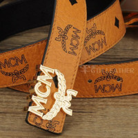 MCM Woman Fashion Smooth Buckle Belt Leather Belt G-A-GFPDPF