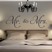 Mr. and Mrs. Vinyl Wall Decal
