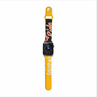 "Juan Paolo ""Enjoy The Ride"" Yellow Vintage Apple Watch Strap"