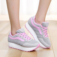 Fashion 2017 Women Casual Shoes Woman Shape Ups Perfect Comfort Summer Autumn Outdoor Thick Soled Rocker Shoes Zapatos Mujer