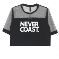 Letters Printed Lace T-Shirt