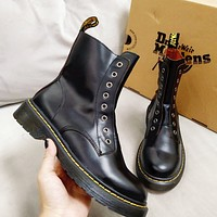 Dr.Martens Black Leather Martin boots