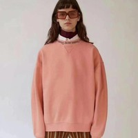 Acne Studio Woman Men Cashmere Round Neck Top Sweater Pullover-1