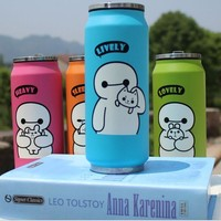4 Color Cartoon Big Hero Thermos Mug Stainless Steel Cup Vacuum Flasks Thermal Bottle Kid Child Thermocup 450ml