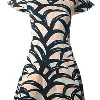 Kenzo Graphic Print A-Line Dress