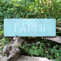 Faith Wooden Hanging Sign | Altar'd State