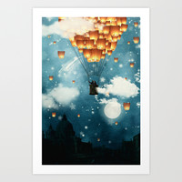 Where all the wishes come true Art Print by Paula Belle Flores