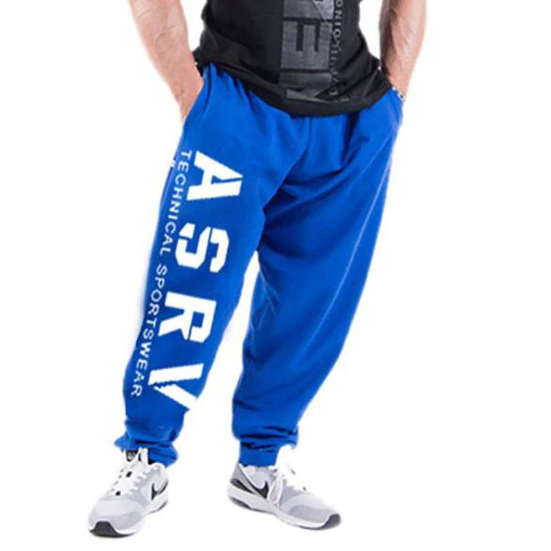 Image of Autumn new mens cotton Sweatpants Fitness workout solid trousers male Casual fashion Pencil Pants Joggers sportswear