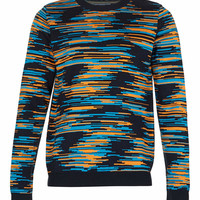 Digital Pattern Knitted Sweater - TOPMAN USA