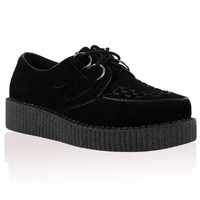 33R New Womens Platform Lace Up Ladies Flat Creepers Goth Punk Shoes