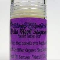 Pocket Lotion bar with Shea and Macadamia  hands/elbows/feet