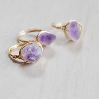 Amethyst Ring, Gemstone Rings, Wire Wrap Rings, Stone Ring