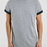 Grey Contrast Roller T-Shirt - New This Week - New In