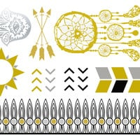 Dream Catcher Temporary Jewelry Tattoo III (includes 4 sheets with 4 styles)