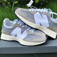 New Balance 327 two-color stitching retro casual running shoes