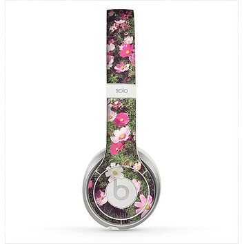 The Vintage Pink Floral Field Skin for the Beats by Dre Solo 2 Headphones