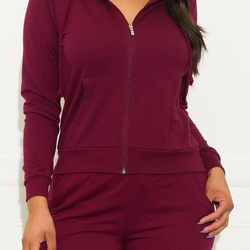 Meant To Be Sweater  Burgundy