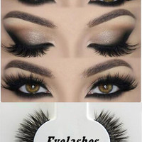 Women's Fashion Thick Long Handmade Sparse Eye Lash Extension Soft Makeup False cute Eyelashes Hot Sale Natural False Eyelashes [6407957764]