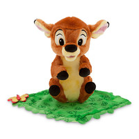 "disney parks 10"" baby bambi plush toy with blanket new with tag"
