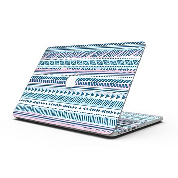Pink to Blue Tribal Sketch Pattern - MacBook Pro with Retina Display Full-Coverage Skin Kit