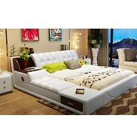 Modern Soft Leather Beds with storage