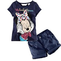 Girls clothing sets cartoon Baby kids suits 2 pcs