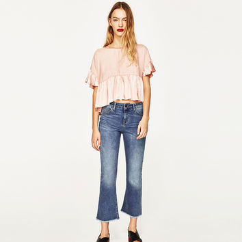 SHINY CONTRASTING TOP DETAILS