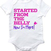 Baby Dadda Started From The Belly Girlie Onesuit