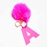 A INITIAL KEYCHAIN - PINK