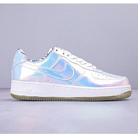 Nike Air Force 1  New fashion hook laser running shoes