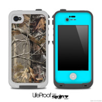 The Bare Camo with Turquoise Front Skin for the iPhone 4 or 5 LifeProof Case