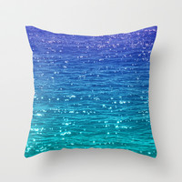 SEA SPARKLE Throw Pillow by catspaws