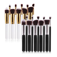 10 PCS Professional Cosmetic Makeup Tool Brush Brushes Set For Powder Eyeshadow Foundation Make up Set maquiagem  G#J6