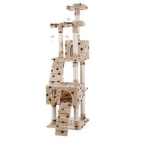 """Pet Kitty Play House New 67"""" Cat Tree Tower Condo Furniture Scratching Post"""