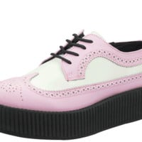 A8650 PINK AND WHITE LEATHER WINGTIP VIVA MONDO CREEPERS