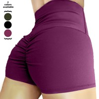 DropShipping Womens High Waisted Shorts Workout Yoga Tummy Control Ruched Butt Fitness Shorts