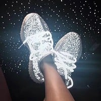 Adidas Yeezy 350 V2 Boots Static Popular Women Men Comfortable Sport Running Shoes Sneakers I/A