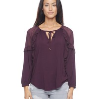 Mixed Fabric Ruffle Top by Juicy Couture