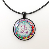 Om Mantra Necklace, Om Mani Padme Hum, new age jewelry
