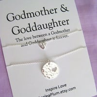 Godmother Gift. Godmother Necklace. Baptism Christening Gifts. Love Jewelry. Godparent Gift. Will You Be My Godmother  Jewelry