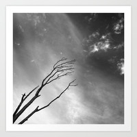 """""""Talking to the clouds"""" BW. Art Print by Guido Montañés"""