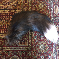 Arctic Marble Fox Tail