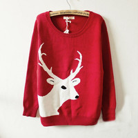 Retro thin pullover knitted BBBD