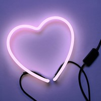 Free People Luxe Neon Heart Light