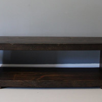 Media Stand Made from Reclaimed Wood / Salvaged Barn Wood / FREE SHIPPING & Lifetime Warranty