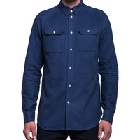 A Kind Of Guise Hella Flanell Shirt Navy | SOTO Berlin